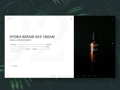 Cosmetic Store Web Concept branding brand cosmetic store web experience interface ux ui design