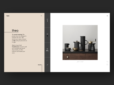 Homeware Store Concept user website store scandinavian minimal design interface experience ux ui