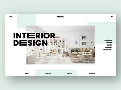 Interior Design Website Concept