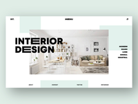 Interior Design Website Concept