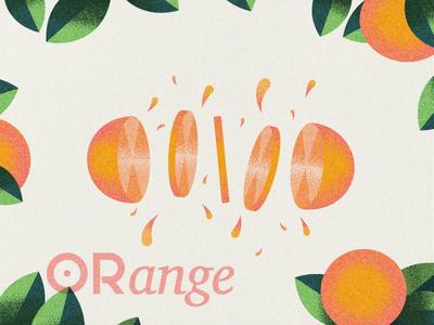 Orange stipple graphic design fruit orange illustrator illustraion vector minimal grain design