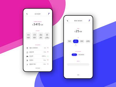 Banking App Concept clean minimal money design mobile bank banking ux ui app