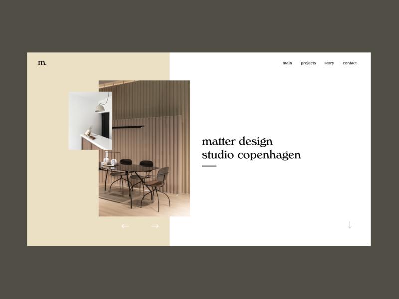 Matter Design Studio minimalist scandinavian design nordic pastels design studio furniture design branding figma web type studio web design