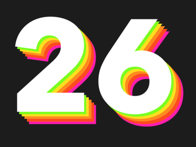 Drawing a number everyday - 26 procreate numbers typography