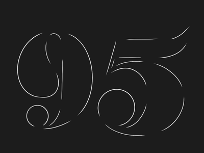 Drawing a number everyday - 95 procreate ipad hand drawn typography
