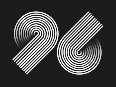 Drawing a number everyday- 96 ipad procreate hand drawn typography numbers