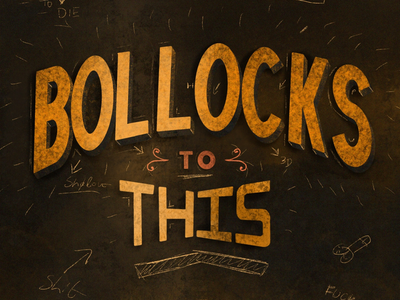 Bollocks to this procreate ipad lettering hand drawn typography