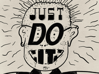 Just do it doodle procreate ipad lettering hand drawn typography doodle