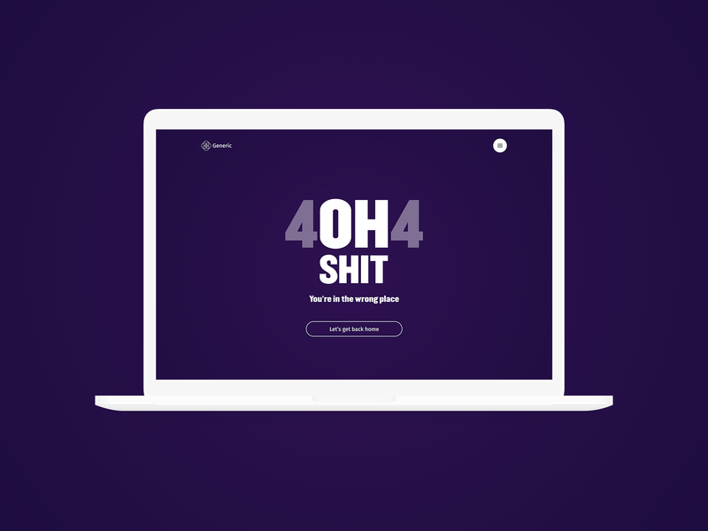 404 - Daily UI :: 008 daily ui 008 web lettering type website daily 100 challenge minimal clean vector typography ui flat dailyui design
