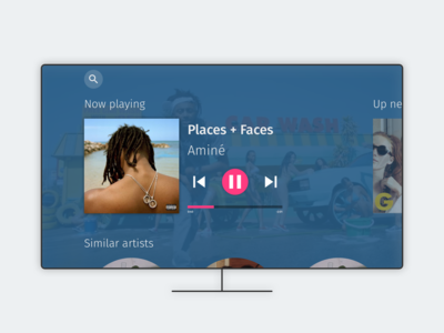 TV music player - Daily UI :: 009