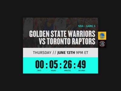 NBA Finals Game 6 Countdown - Daily UI :: 014