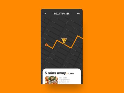 Pizza Tracker - Daily UI :: 020