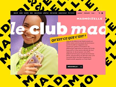 Madmoizelle bold fresh ui graphic  design uidesign