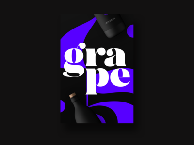 poster design for grape's alcohol, percent's brand