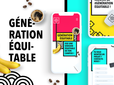 "Landing ""génération équitable"" fairtrade creative branding digital uidesign design"