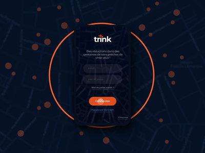 Trink app's design and animation