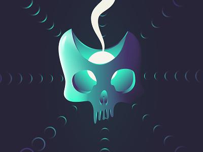 Skull of saying hello design poster gradients gradient vector skull illustration