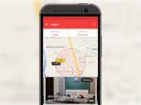 Map view on OYO Rooms app