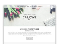 One page simple website