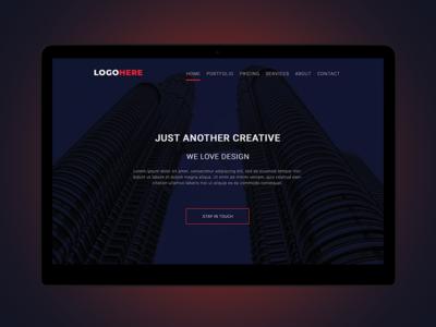 Web Header concept