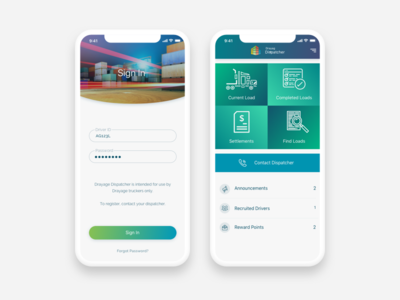 Transport App designs, themes, templates and downloadable