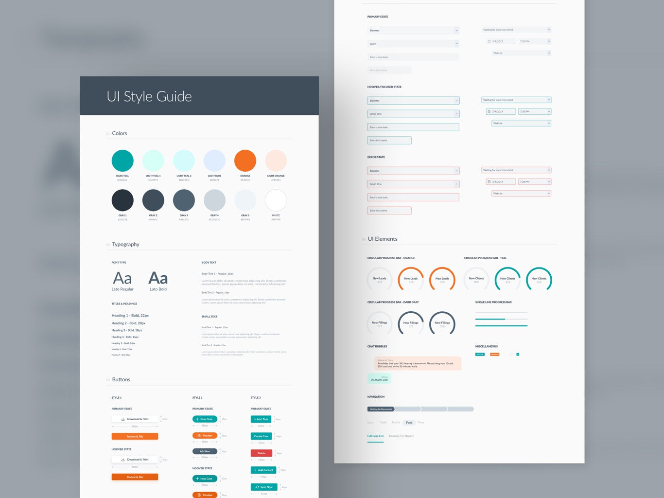UI Style Guide 2d animation 2020 icons visual design sketch 2d typography button running trends ux ui color whitespace developer style guide 2019