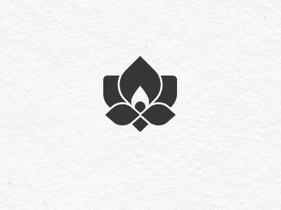 Lotus logo lotus flower flame