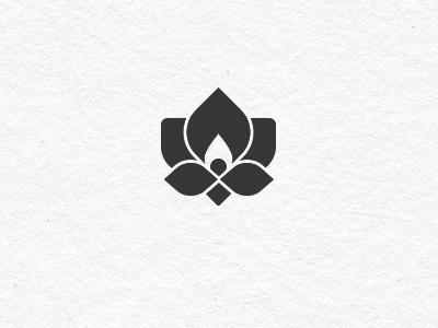 Lotus logo lotus flower flame