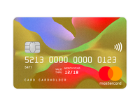 Credit Card Design II illustrator illustration experimental cinema4d card