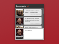 Comment / Chat Window