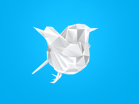 Low Poly Twitter Bird