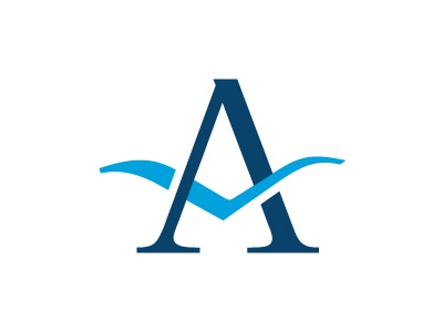 Banklogo logo blue identitiy mark bird a letter
