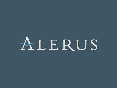 Alerus Logo logo bank wings serif bembo take flight