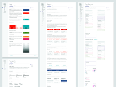 Design System Layout documentation pattern ui ux brand buttons fonts colors principles library components design system