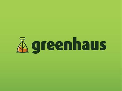 Greenhaus Logo design branding guide branding plant lab typography icon logo