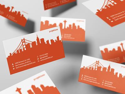 projekt202 Business Card card office city skyline business card design branding illustration