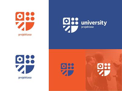 U202 Branding shield badge university branding ux icon logo vector design