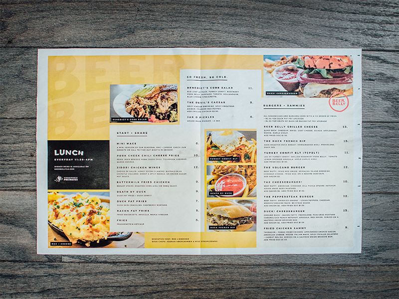beer belly takeout menu by courtney kim dribbble