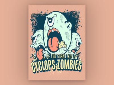 Giant killer cyclops zombies