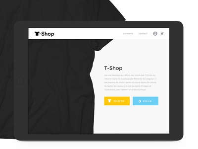 Concept. E-commerce application for Ipad