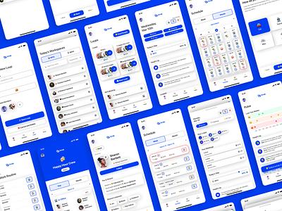 Luup App UI interface schedule luup pulse emojis vibes workspace android ios hybrid remote work remote app design ux ui figma studio startup design app