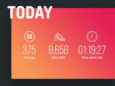 AndGo v3 Main Nav Stats active navigation dashboard web interface interaction ux ui health wellness daily activity