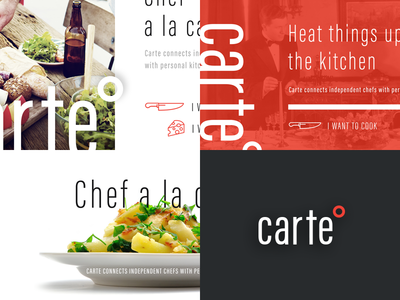 Carte Style Exploration homepage cook interface housebuilt ui ux style culinary chef carte
