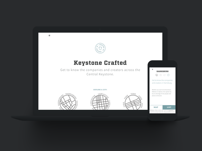 Keystone crafted branding identity interface housebuilt ux pennsylvania pa ui website crafted keystone