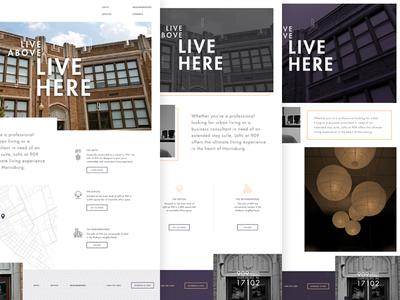 Lofts at 909 Styles website living apartment loft design interface housebuilt ui styles homepage