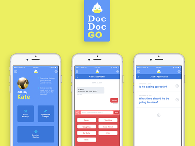 Pediatrician & Parents App Concept