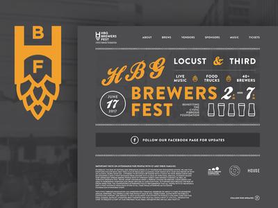 Harrisburg Brewers Fest Redesign homepage website brewfest festival brew beer keystone pennsylvania pa harrisburg