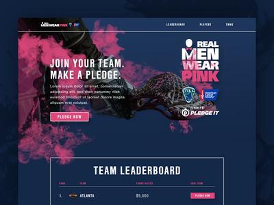 Real Men Wear Pink Microsite