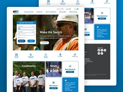 UGI Website andculture ia redesign utiltity gas ux ui homepage website ugi