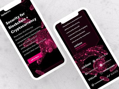 HackerOne Landing Page landing website ui cryptocurrency blockchain security mobile hackerone h1